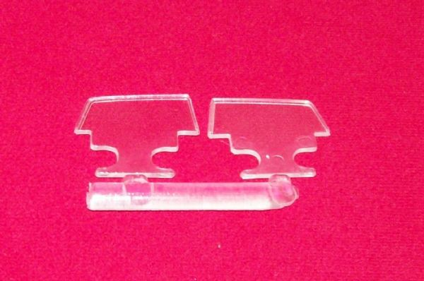 FRENCH DINKY TOYS 1435 CITROEN PRESIDENTIELLE CLEAR PLASTIC SIDE DOOR WINDOWS